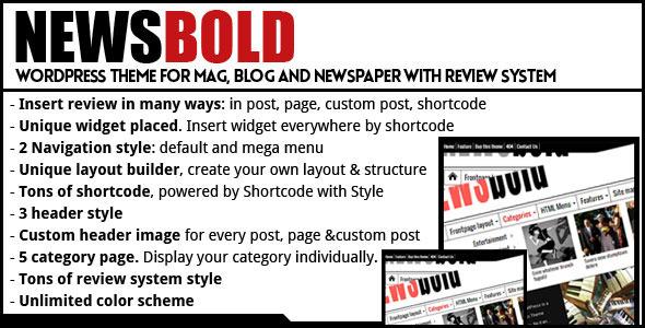 ThemeForest Newsbold Bootstrap Multipurpose MagNewsBlog 6000415