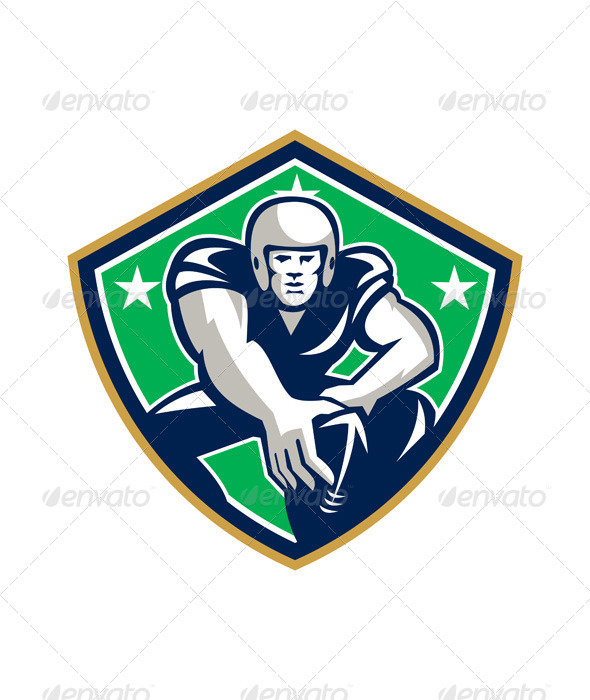 GraphicRiver American Football Center Snap Front Shield 6054390