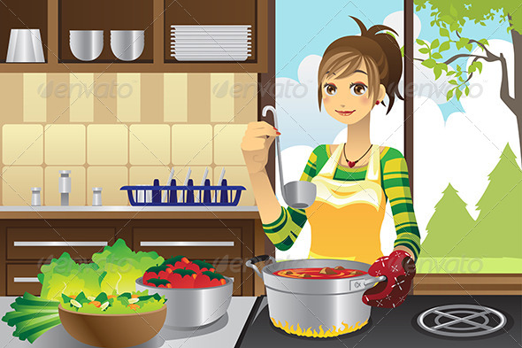 GraphicRiver Housewife Cooking 6054767