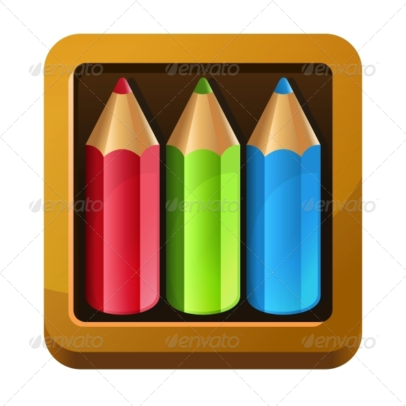 GraphicRiver Wooden Box with Pencils 6054807