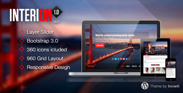 ThemeForest Interion Responsive One Page WordPress Theme 6000980