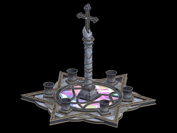 3DOcean Cross Statues 6055081