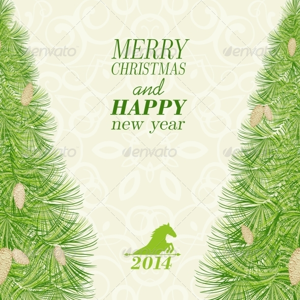 GraphicRiver Christmas Spruce 6055084