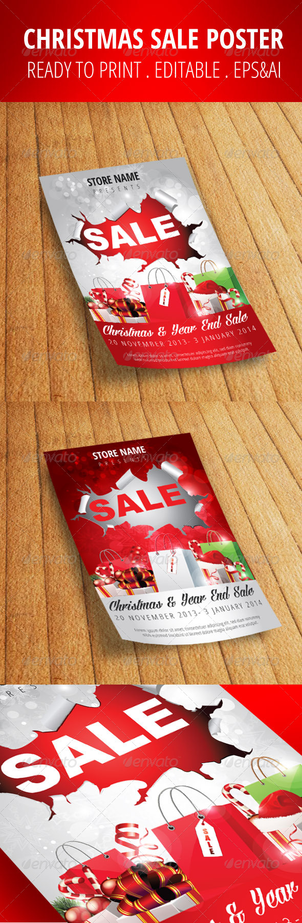 GraphicRiver Christmas Sale Flyer Poster 6055280