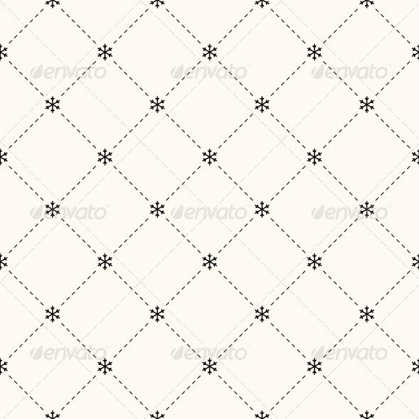 GraphicRiver Vector Seamless Winter Retro Pattern 6055317