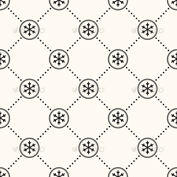 GraphicRiver Vector Seamless Winter Retro Pattern 6055321