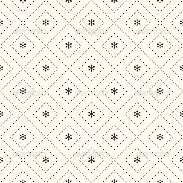 Vector Seamless Winter Retro Pattern