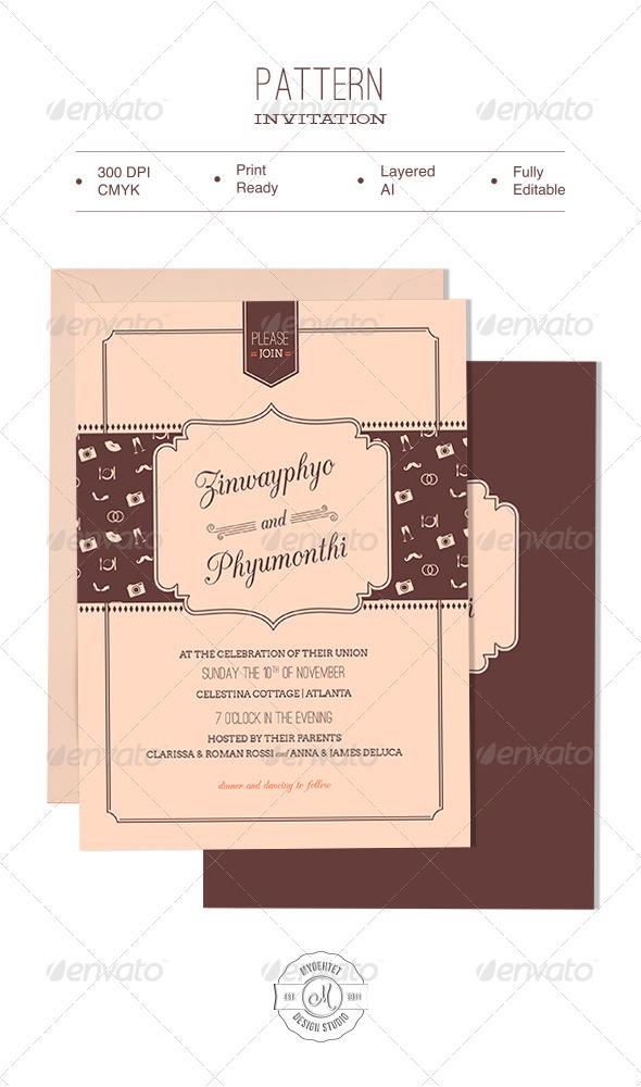 GraphicRiver Pattern Invitation 6055515