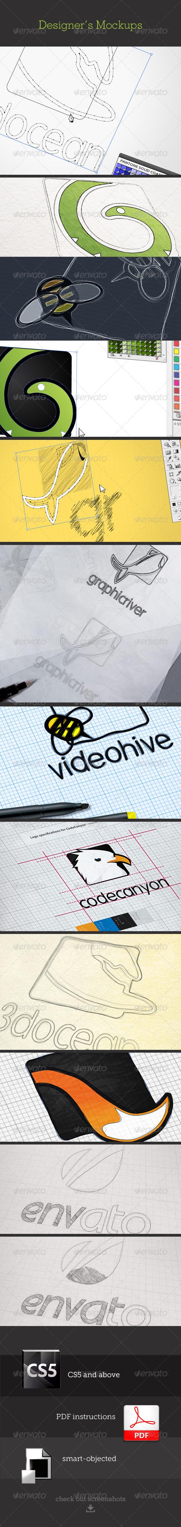 GraphicRiver Designers Mockups 6039586