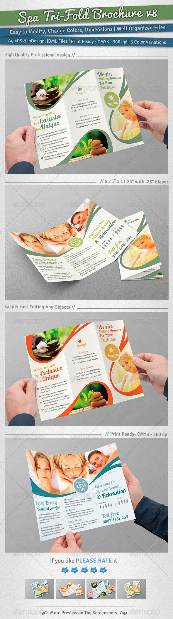 GraphicRiver Spa Tri-Fold Brochure Volume 8 6055586