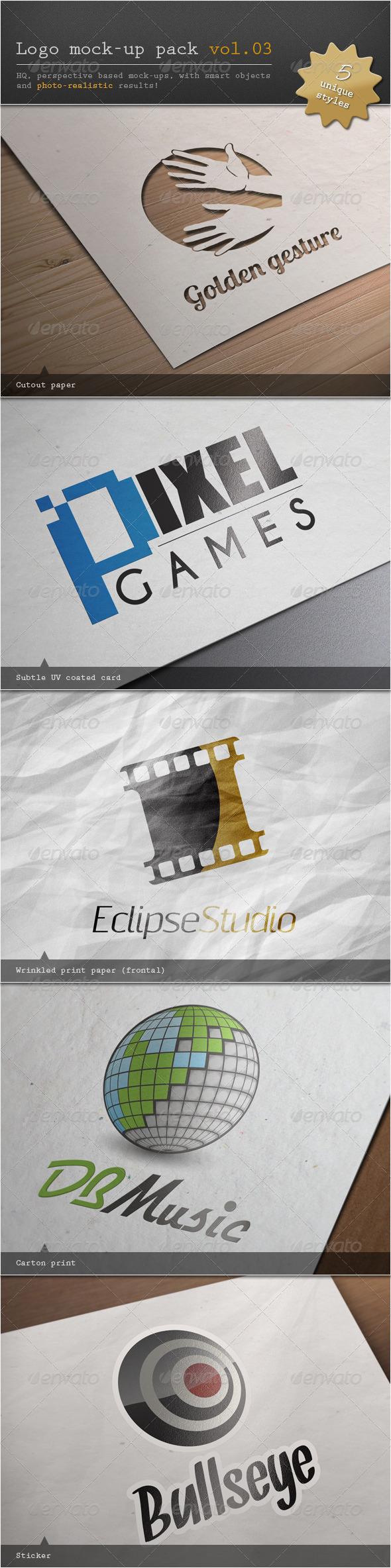 GraphicRiver Logo Mock-up Pack Vol.03 6052180