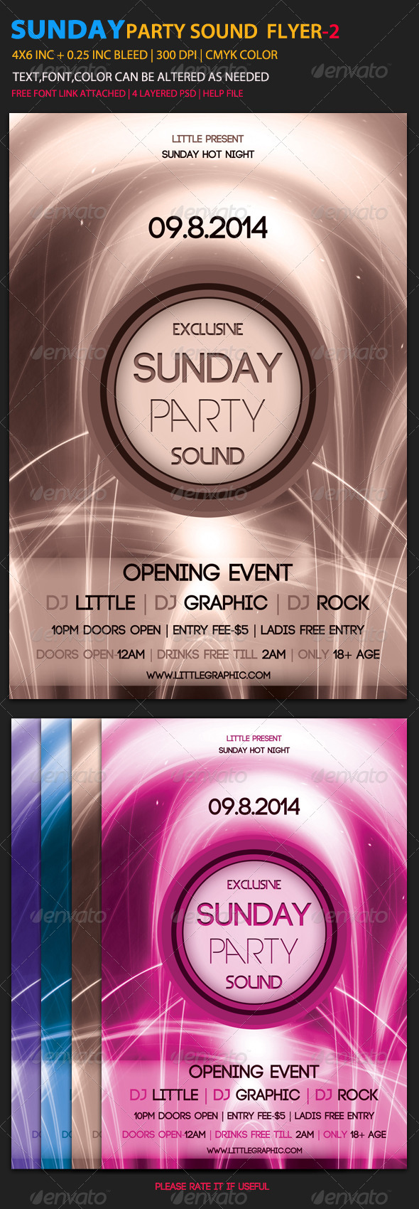 GraphicRiver Sunday Party Sound Flyer 2 6053189
