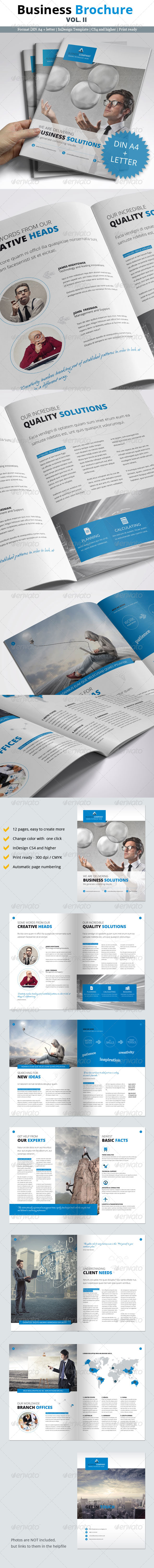 12 Page Business Brochure Vol. II - Corporate Brochures