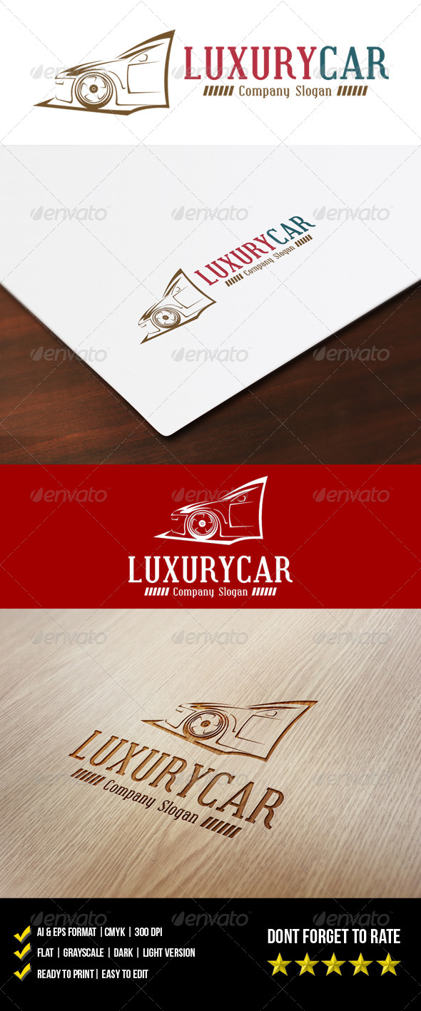 Luxury Car Logo - Objects Logo Templates