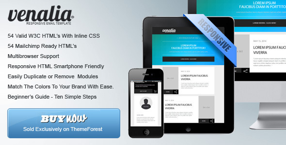 ThemeForest Venalia Responsive And Modular Email Template 6055834