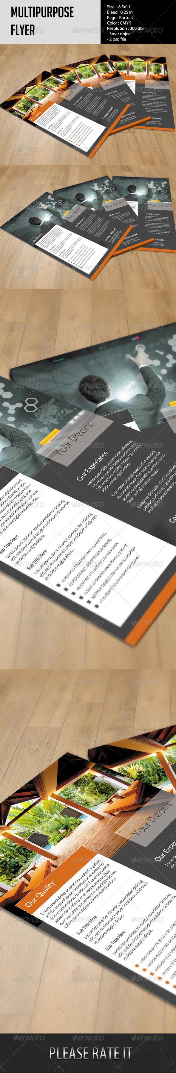 GraphicRiver Multipurpose Flyer Template 6056147