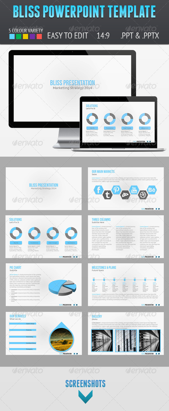 GraphicRiver Bliss Presentation Template 6047529