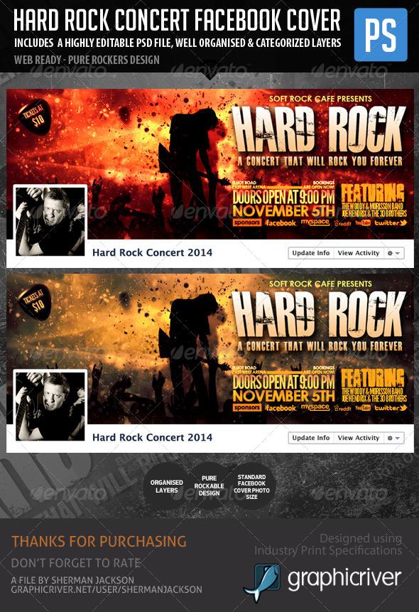 Hard Rock Facebook Concert Cover