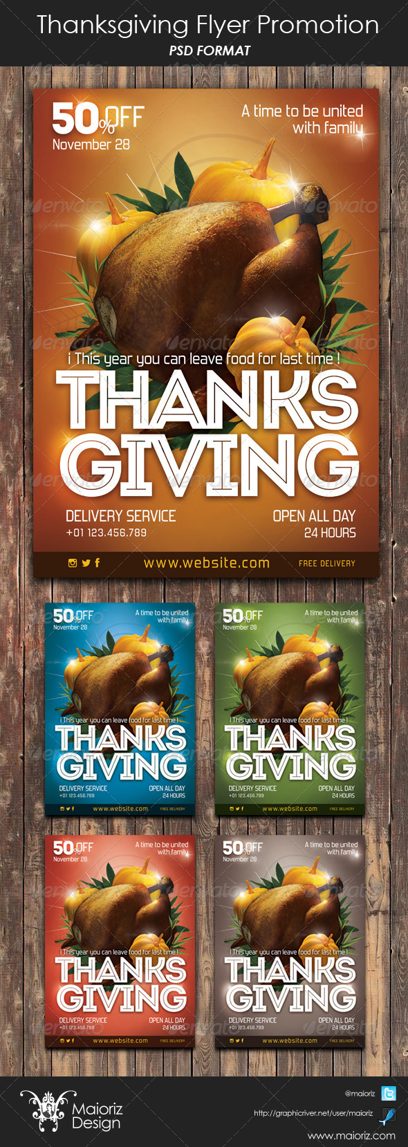 GraphicRiver Thanksgiving Flyer Promote 6056486