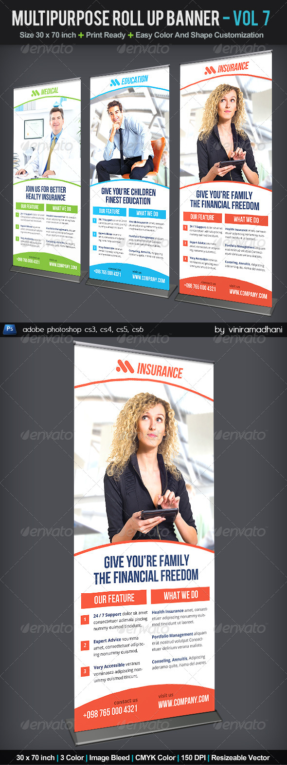 GraphicRiver Multipurpose Roll Up Banner Volume 7 6056591