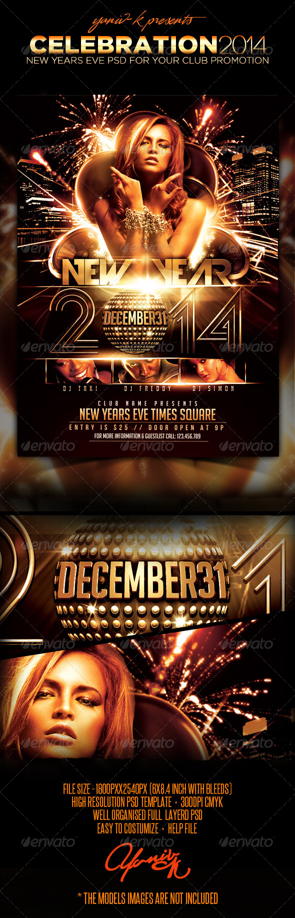 Celebration Flyer Template - Clubs & Parties Events