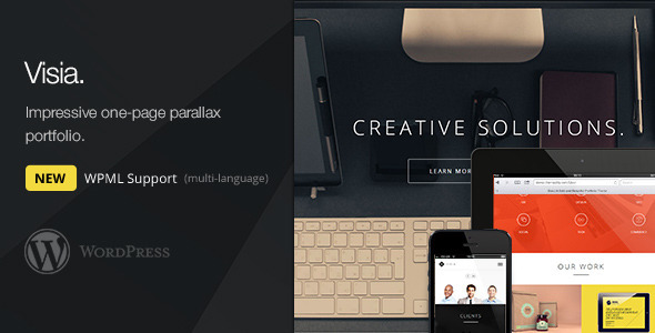 Visia Responsive One Page Retina WordPress Theme