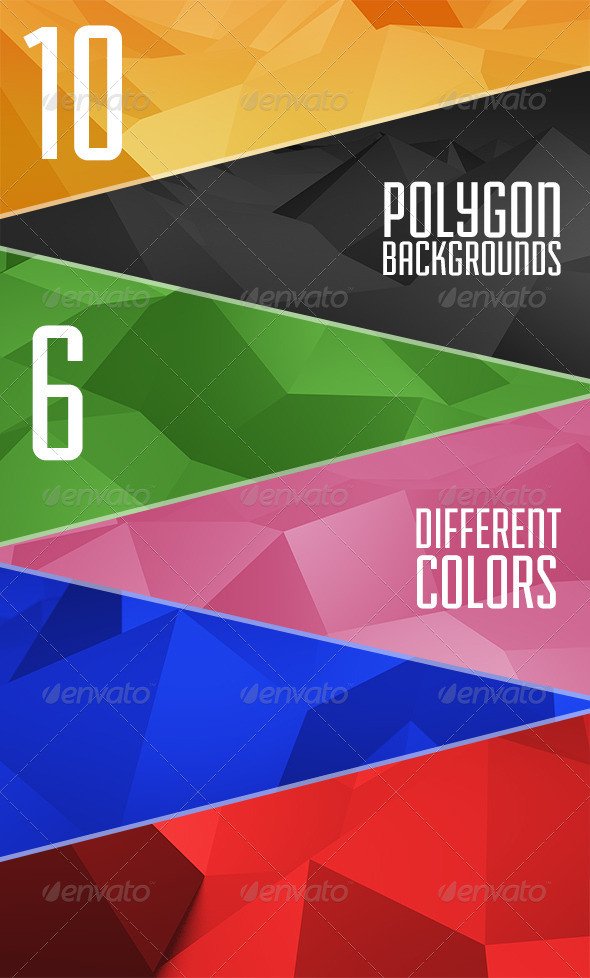 GraphicRiver Abstract Polygon Backgrounds 6049334