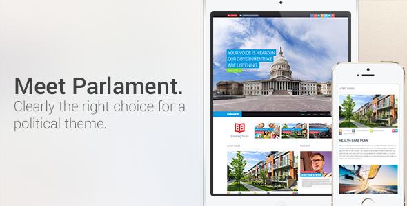 Parliament Political WordPress Theme