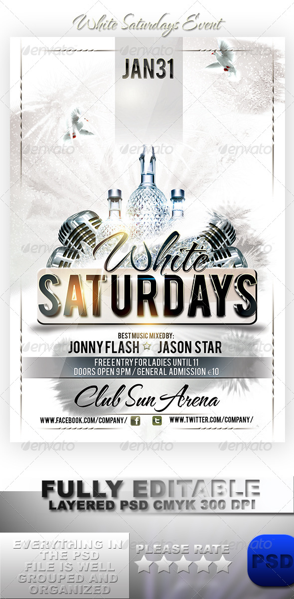 GraphicRiver White Saturdays Event 6056718
