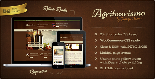 AgriTourismo - Winery & Restaurant Template