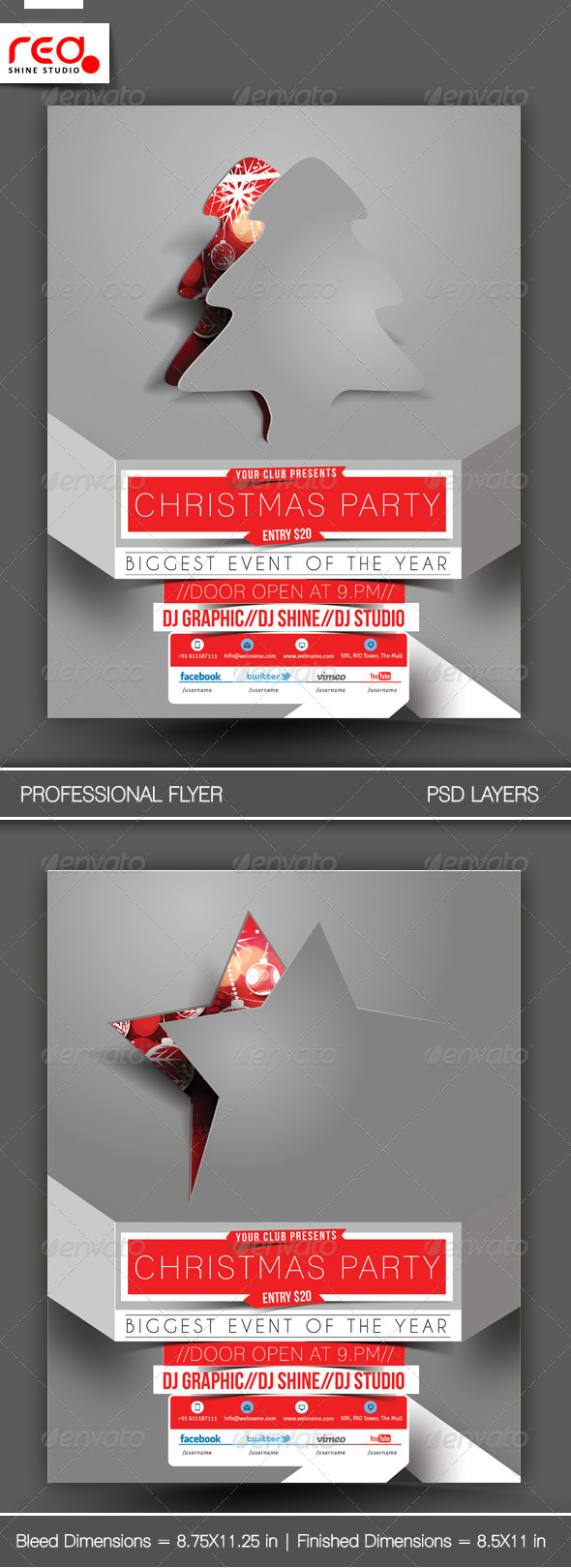 GraphicRiver Christmas Party Flyer & Poster Template 1 6056864