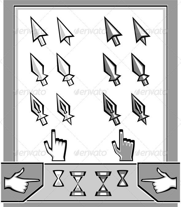 GraphicRiver Set Cursors Icons 6056880