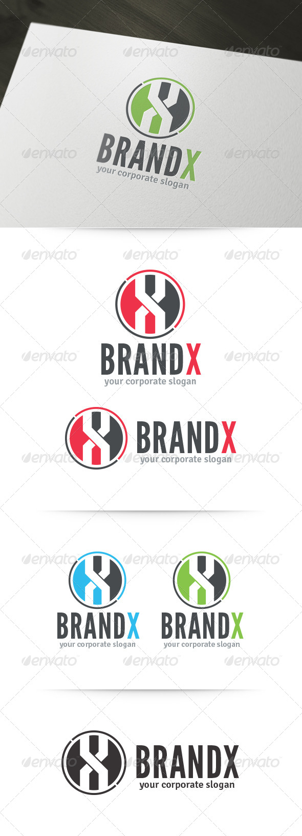 GraphicRiver Brand X Letter Logo 6056976