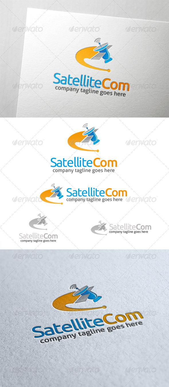 GraphicRiver Satellite Communication Logo 6056993