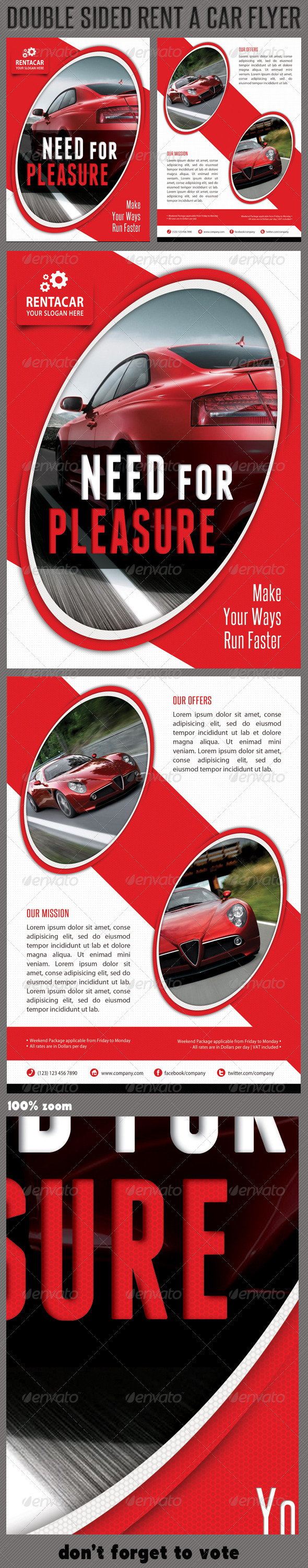 Rent A Car Corporate Flyer 03 - Corporate Flyers