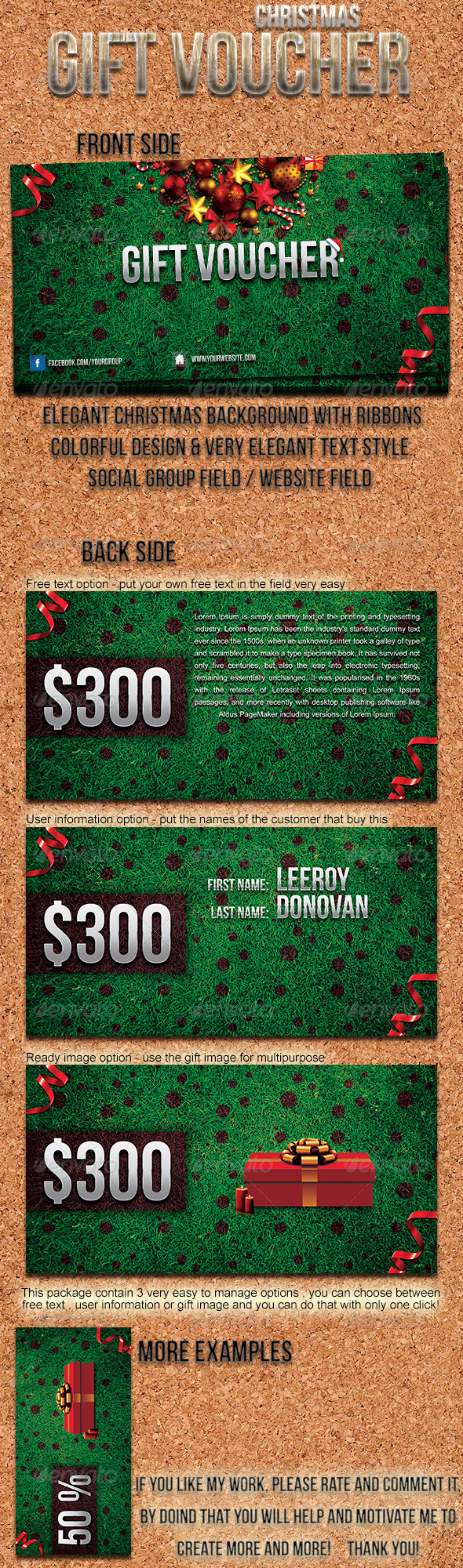 GraphicRiver Christmas Gift Voucher 6056265