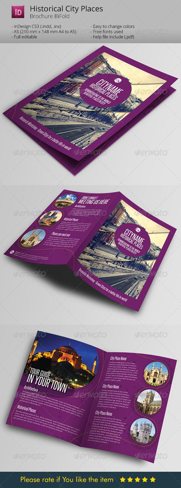 GraphicRiver History City Guide Template Brochure 6057007