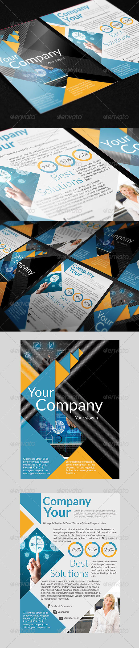 GraphicRiver Business Triangle Flyer 6057033