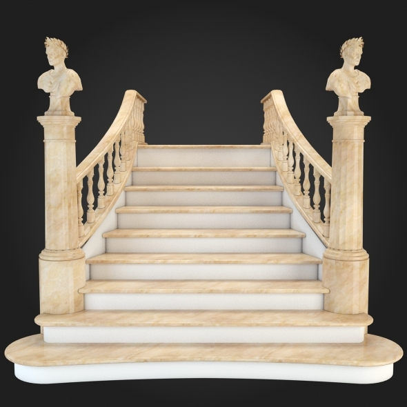 Staircase 007 - 3DOcean Item for Sale