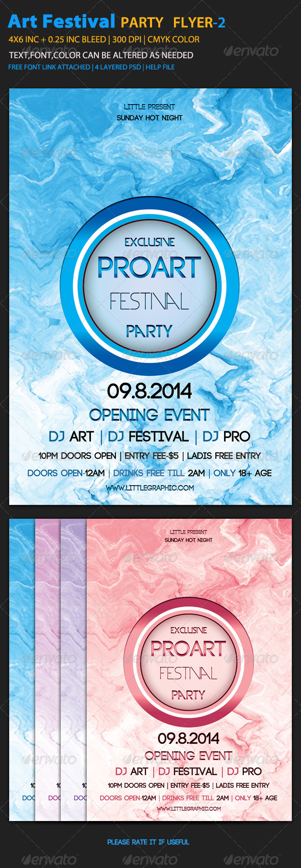 GraphicRiver Art Festival Flyer Template 2 6057118