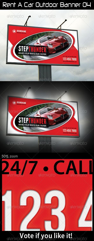 Rent A Car Outdoor Banner 04