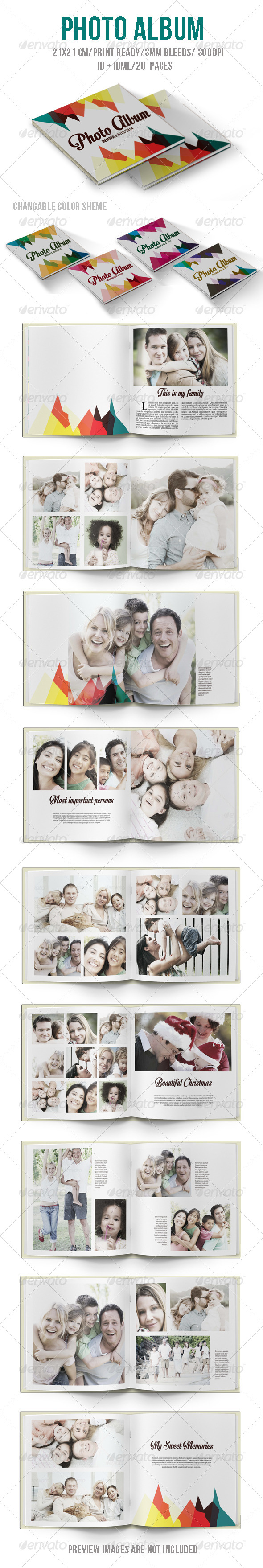 GraphicRiver Colorful Photo Album 6057172
