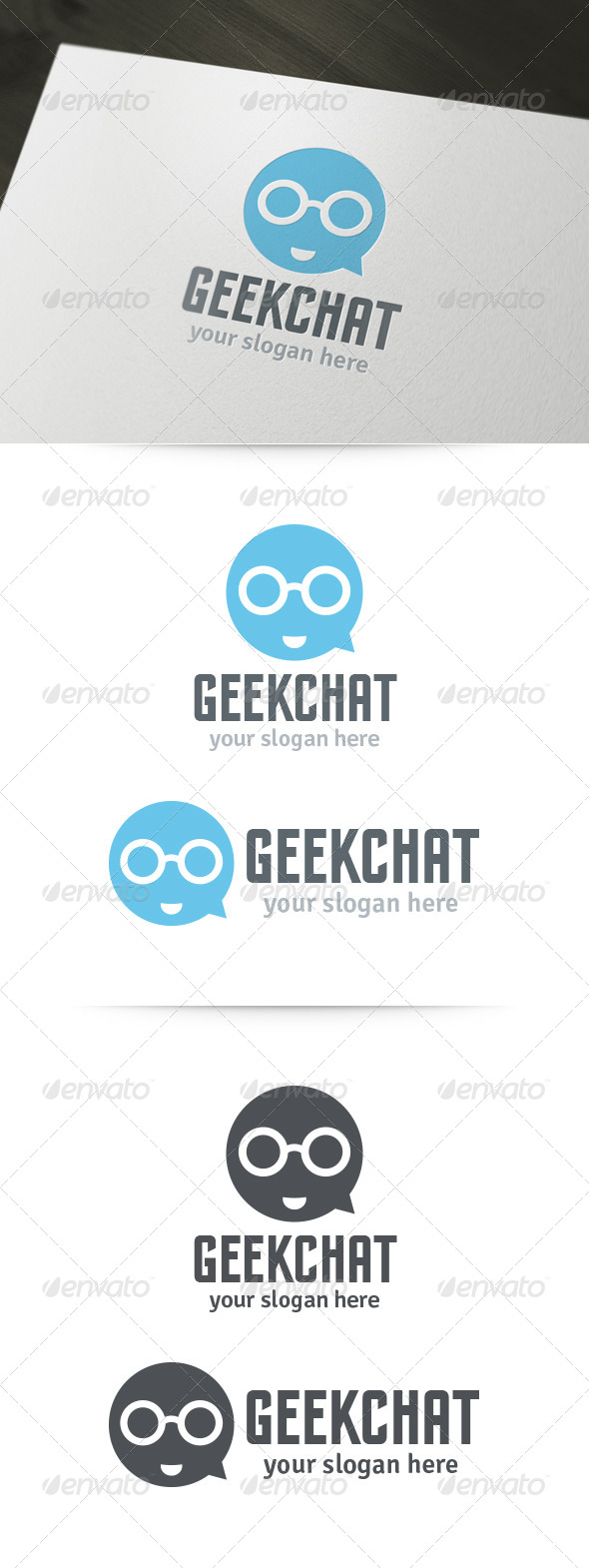 GraphicRiver Geek Chat Logo 6057297