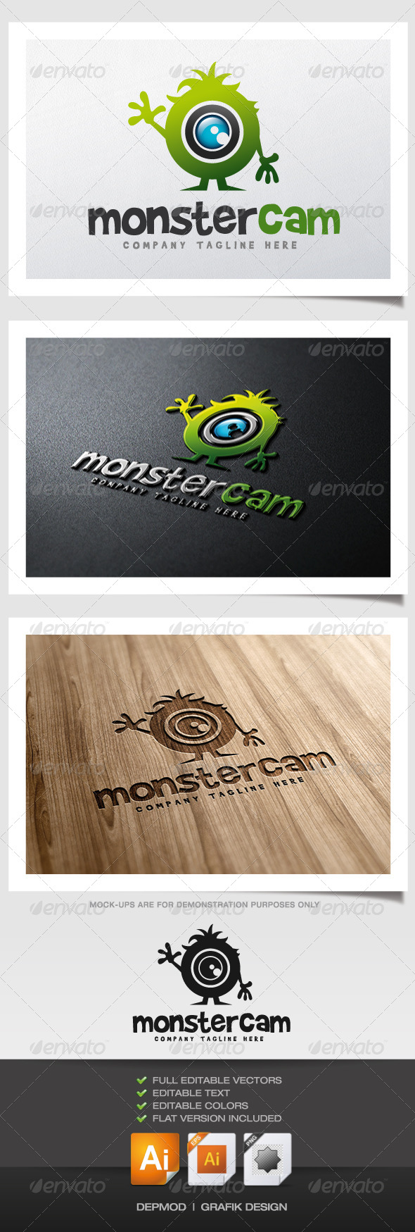 GraphicRiver Monster Cam Logo 6057312