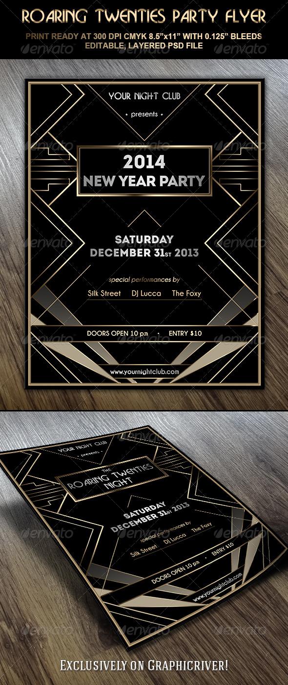 GraphicRiver Roaring Twenties Party Flyer 6049564