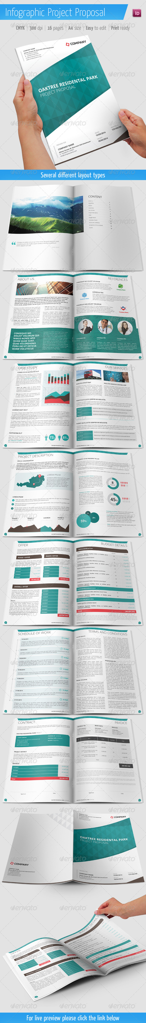 GraphicRiver Project Proposal With Infographic Elements 6057465