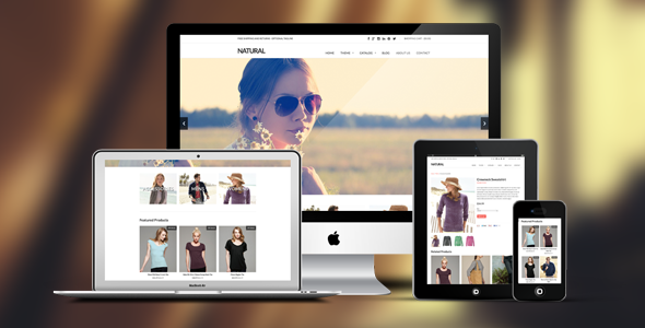 Natural is a clean and modern responsive Shopify theme; meaning it will work great on computers, tablets, and mobile devices. This theme is easy to customize,