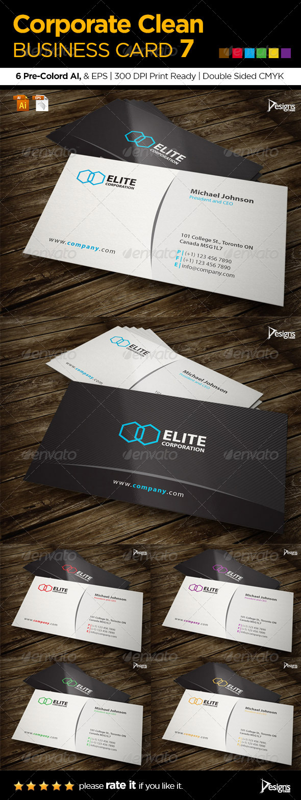 GraphicRiver Corporate Clean Business Card 7 6057550
