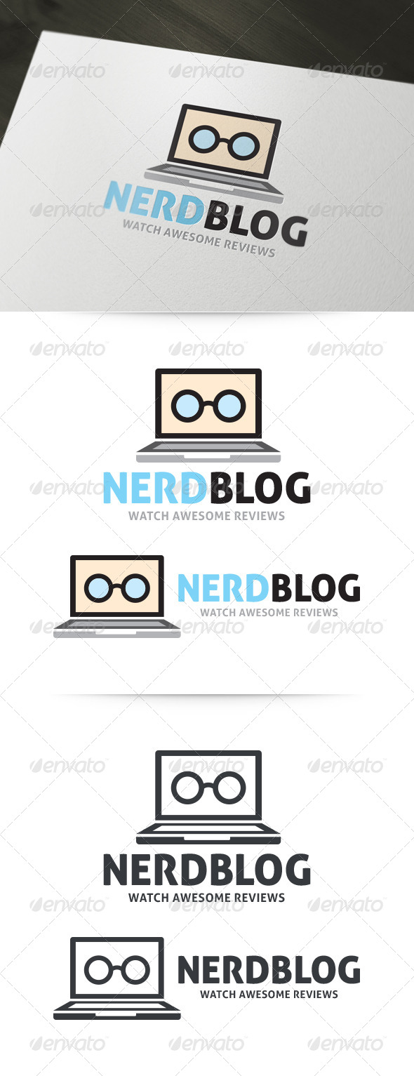 GraphicRiver Nerd Blog Logo 6057584