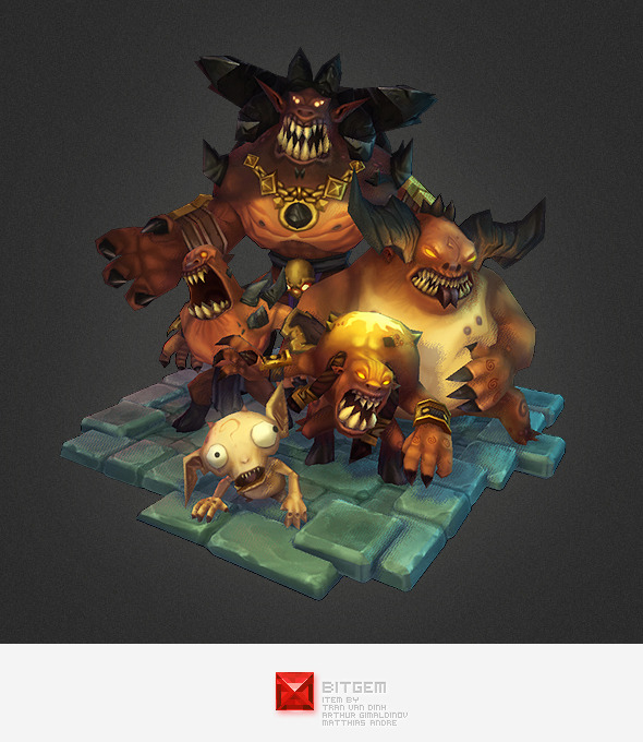 3DOcean Low Poly Demon Crew 6057612